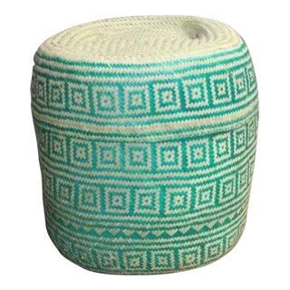 Boho Hand-Woven Palm Basket