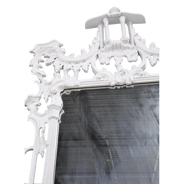 White Chippendale-Style Mirror - Image 2 of 4