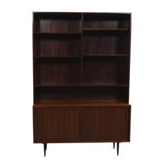 Danish Modern Display Cabinet / Bookcase in Rosewood