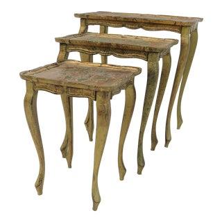Italian Florentine Nest of Tables - Set of 3