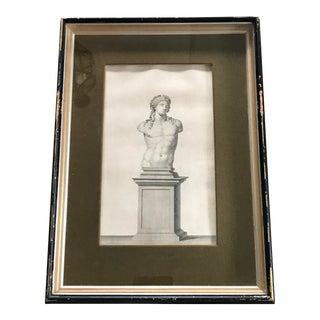 19th C. Framed Roman Print