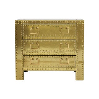 Sarreid Ltd. Brass Chest of Drawers