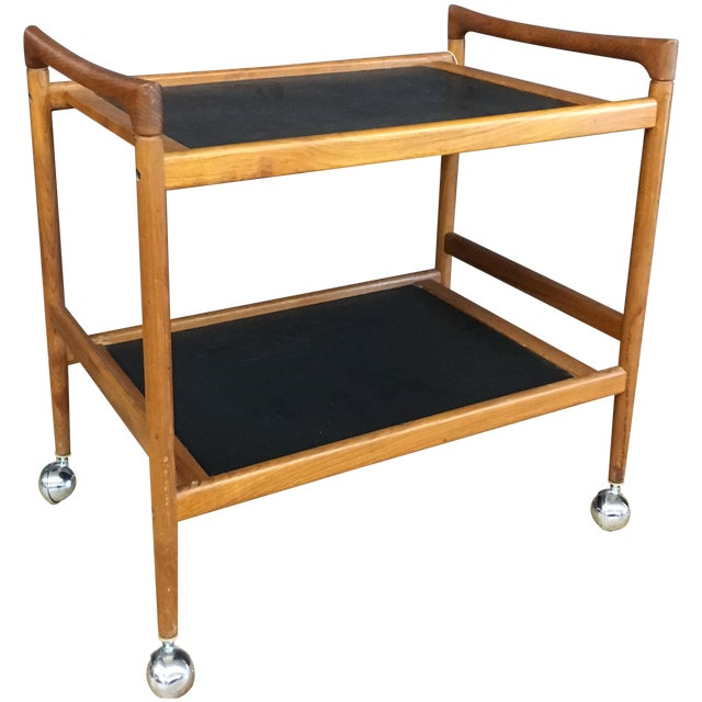 Dyrlund Mid-Century Modern Danish Teak Bar Cart - Image 1 of 8