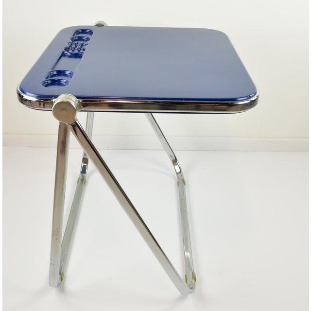 "Giancarlo Piretti ""Platone"" Desk by Castelli - Blue - 1970's - Image 4 of 8"