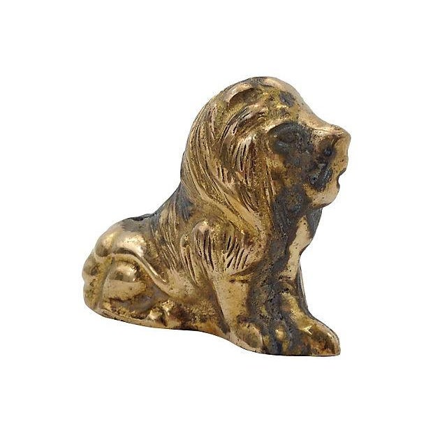 Solid Brass Lion Paperweight - Image 1 of 4