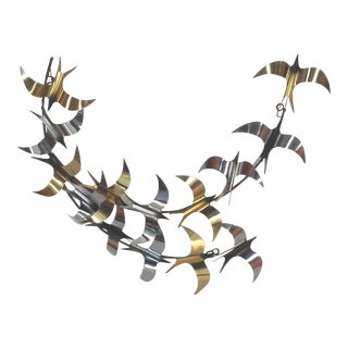 Jere Two Tone Birds Wall Sculpture