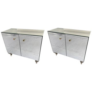 Pair of Decorative Mirrored Cabinets