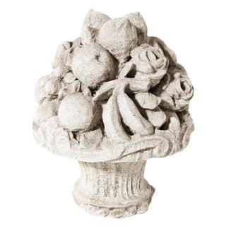 Late 19 century Cast Stone Cornucopia