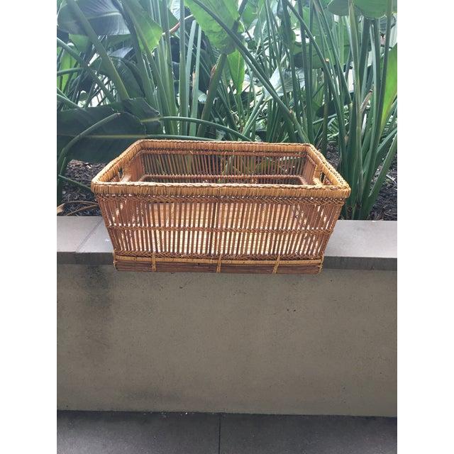 Image of Wicker Basket Organizer Tray