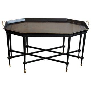 Italian Tole Chinoiserie Cocktail Table/Bar Cart
