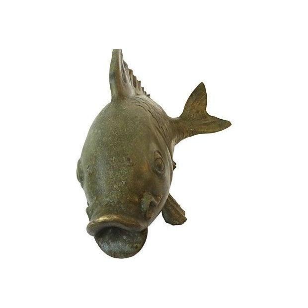 Bronze good luck koi fish chairish for Lucky koi fish