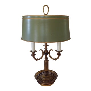 Green Bouillotte Table Lamp