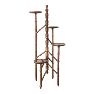 Victorian Mahogany Torchere Candelabra