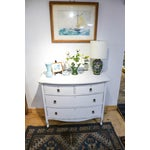 Image of Antique Distressed White Painted Oak Dresser