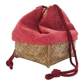 Vintage Kimono Fabric Japanese Kinchaku Bag