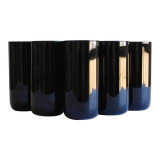 Black Amethyst Highball Glasses - Set of 6