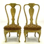 Image of Four Phyllis Morris Oil-Drop Lacquered Queen Anne Chairs