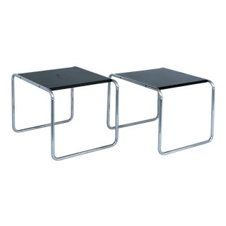 Mid-Century Marcel Breuer Tubular Side Tables - A Pair