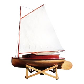 Italian Wooden Sailboat - Vintage