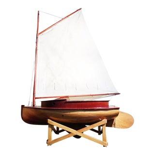 Vintage Italian Wooden Sailboat