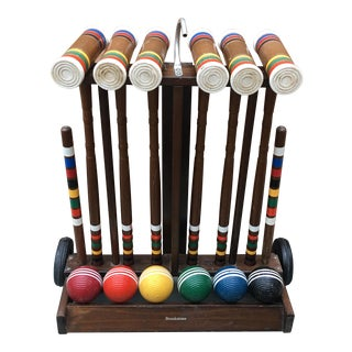 Wooden Brookstone Croquet Set - Set of 6