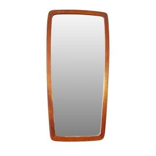 "Danish Modern Tall Teak Mirror 29.5"" high - Jens"