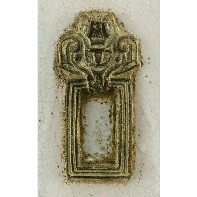 Neoclassical Crackle Glaze & Parcel Gilt Greek Key Table Lamp - Image 6 of 7