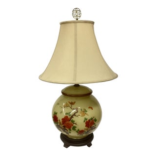 Large Hand Paint Glass Table Lamp