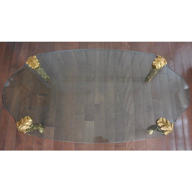 Louis XV Glass Top Coffee Table - Image 2 of 5