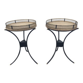 Mid-Century Metal Side Tables - A Pair