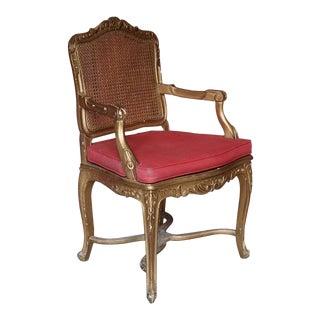 Italian Gilt Rococo Style Armchair
