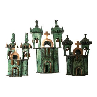 Peruvian Hand Crafted Metal Chapel Figurines - Set of 3