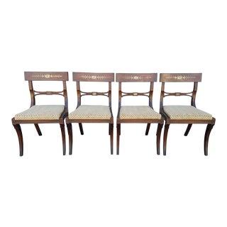 Mahogany Regency Dining Chairs - Set of 4
