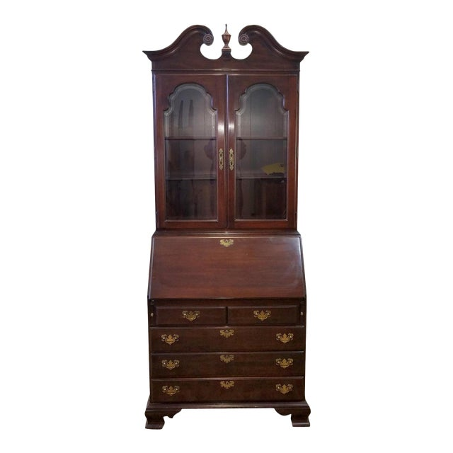 Ethan Allen Cherry Georgian Court Secretary Desk - Image 1 of 8