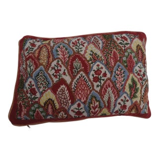 Vintage French Style Needlepoint Pillow