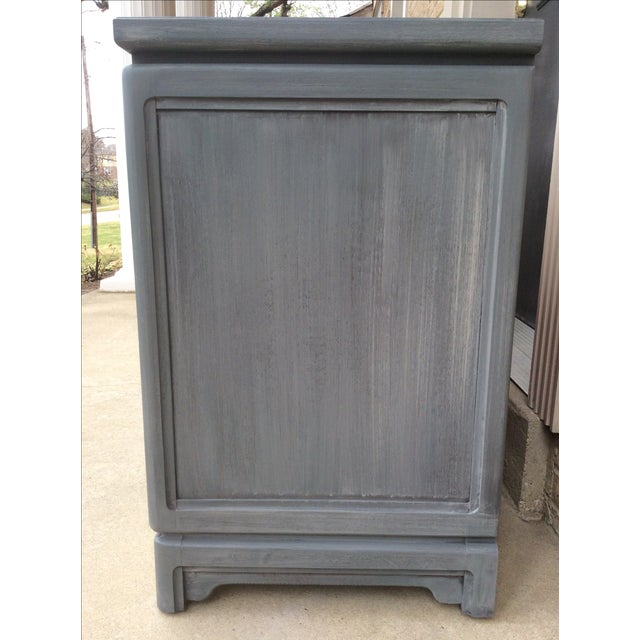 Vintage Thomasville Grey Distressed Asian Credenza - Image 6 of 8