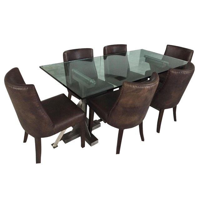 Restoration Hardware Dining Chairs: Restoration Hardware Table & Leather Chairs