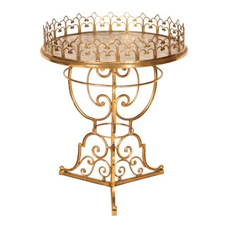Brass & Marble Center Table