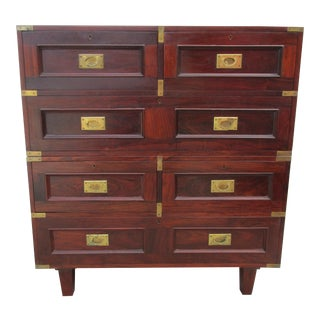 Vintage Rosewood Campaign Style or Tansu Stacking Cabinets or Dresser