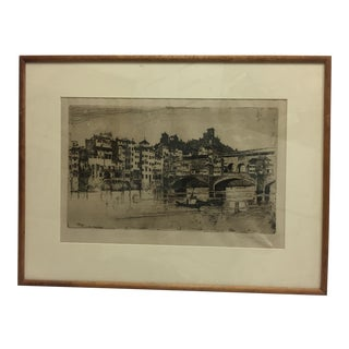 Signed Joseph Pennell Etching A