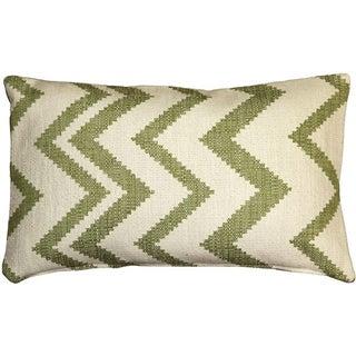 Pillow Decor - Lorenzo Zigzag Green 12x20 Pillow