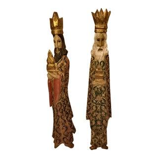 Mediterranean Carved Wise Men Wall Hangings- A Pair