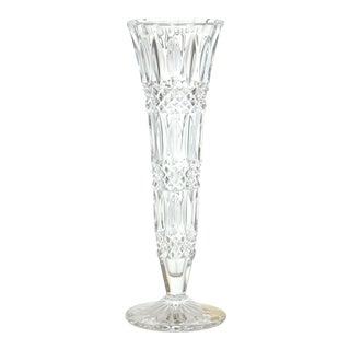 German Cut-Crystal Faceted Vase