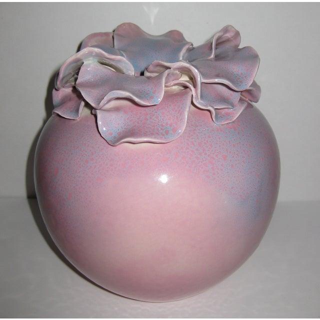 Pink Petal Orb Studio Art Pottery Vase - Image 2 of 7