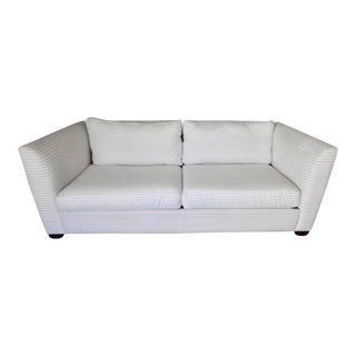 Contemporary Striped White Sofa