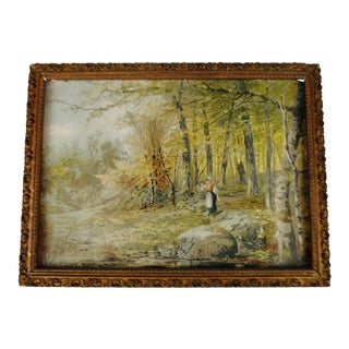 """Maiden in Forest"" Framed Print"