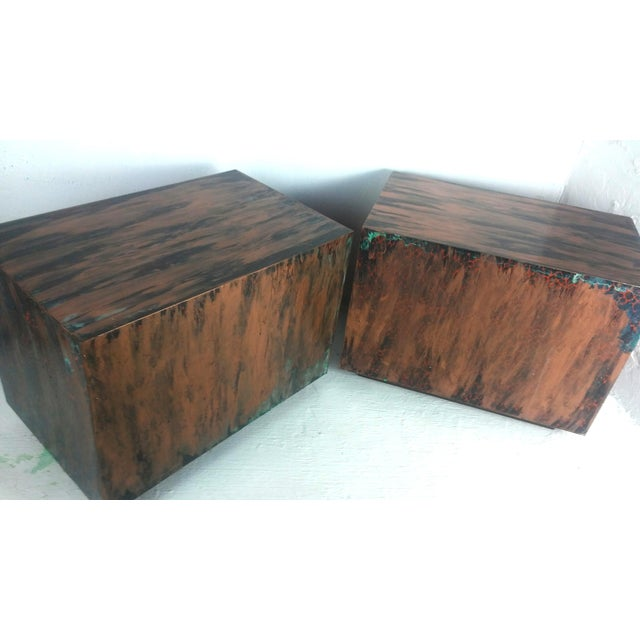 Image of Milo Baughman Style Mid-Century End Tables - a Pair
