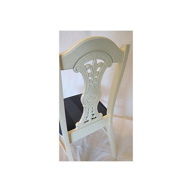 Image of Vintage 1970s Medallion Dining Chairs - Set of 4