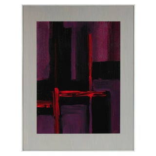 20th Century Seymour Tubis Abstract Painting