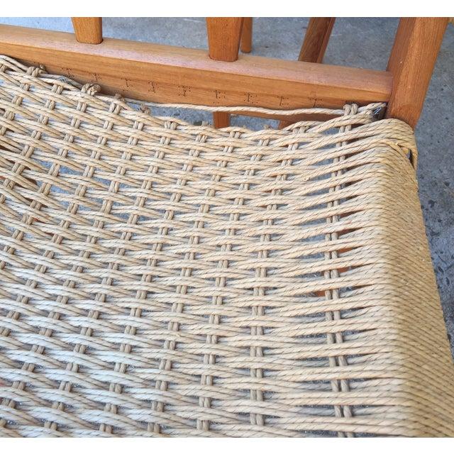 Danish Teak Dining Chairs W/Rope Seats - Set of 5 - Image 7 of 9